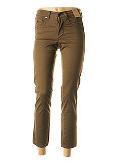 Pantalon 7/8 vert ANGELO MARANI pour femme