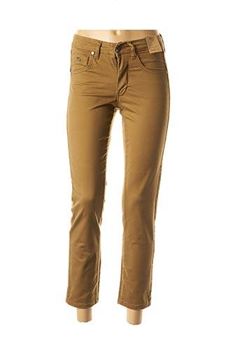 Pantalon 7/8 marron ANGELO MARANI pour femme