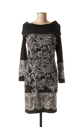 Robe courte noir ANGELO MARANI pour femme