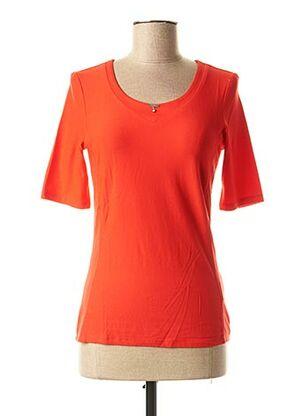 T-shirt manches longues rouge AIRFIELD pour femme