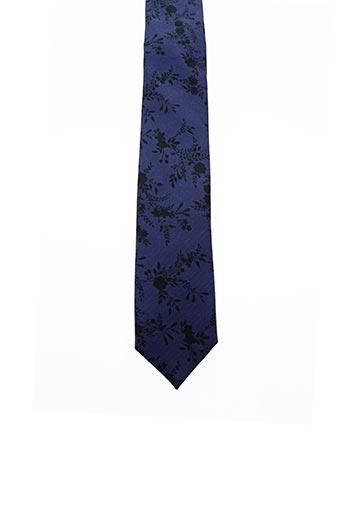Cravate bleu BILLTORNADE pour homme