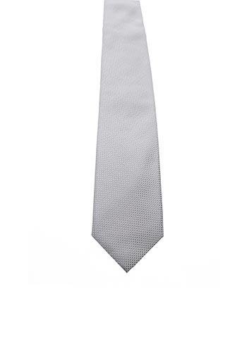 Cravate gris JEAN DE SEY pour homme
