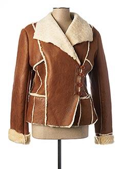 Manteau court marron SYM pour femme