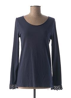 T-shirt manches longues bleu MES SOEURS ET MOI pour femme