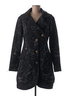 Manteau long noir 3322 pour femme