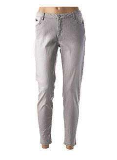 Pantalon casual gris IMITZ pour femme