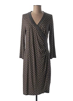 Robe mi-longue gris MYTI pour femme