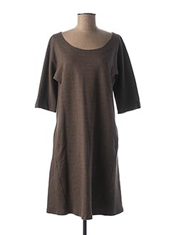 Robe mi-longue noir MYRINE & ME pour femme