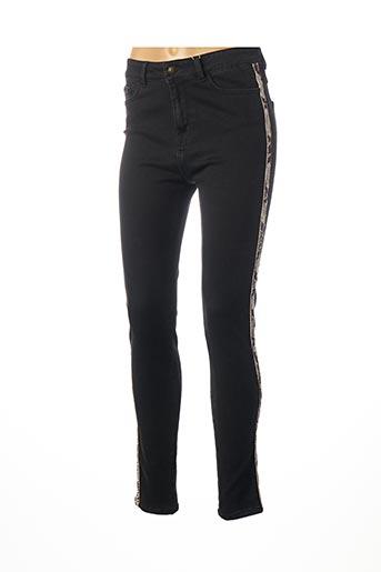 Jeans coupe slim noir C'EST BEAU LA VIE pour femme