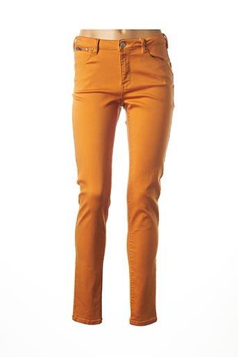 Jeans coupe slim orange C'EST BEAU LA VIE pour femme