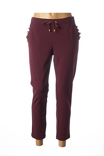 Pantalon 7/8 violet JULIE GUERLANDE pour femme