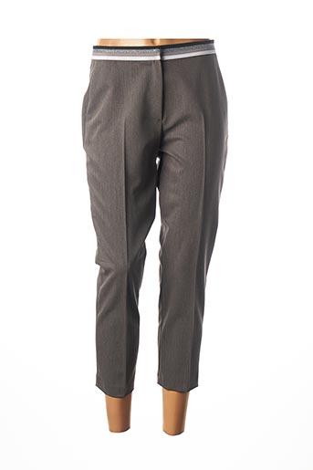 Pantalon 7/8 gris JULIE GUERLANDE pour femme