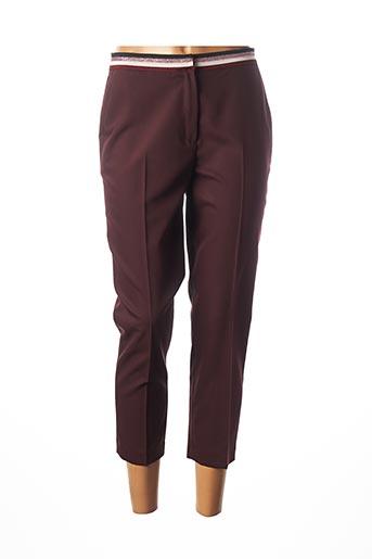 Pantalon 7/8 rouge JULIE GUERLANDE pour femme