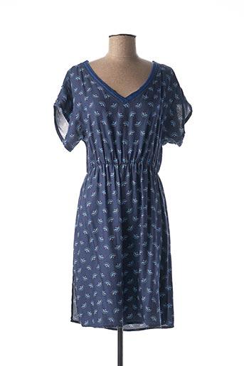 Robe mi-longue bleu C'EST BEAU LA VIE pour femme