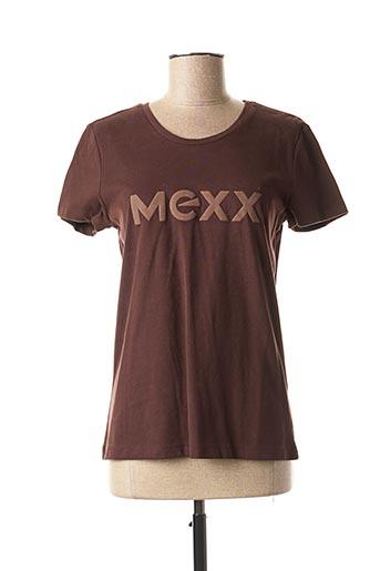 T-shirt manches courtes marron MEXX pour femme