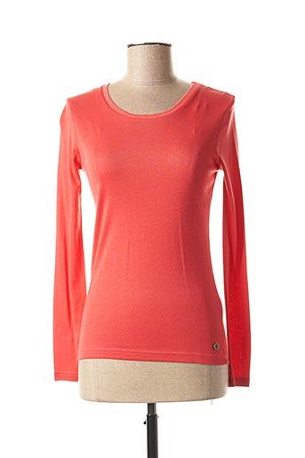 T-shirt manches longues rouge C'EST BEAU LA VIE pour femme