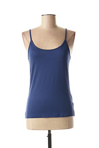 Top bleu KATMAI pour femme