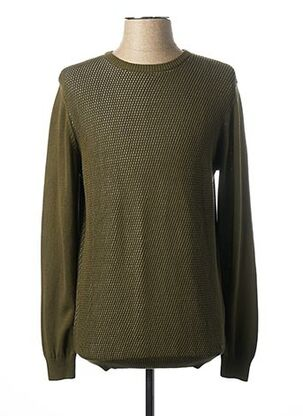 Pull col rond vert MEXX pour homme