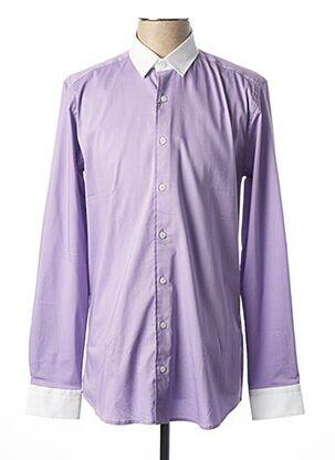 Chemise manches longues violet MEXX pour homme