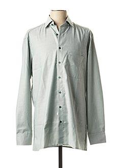 Chemise manches longues vert MARVELIS pour homme