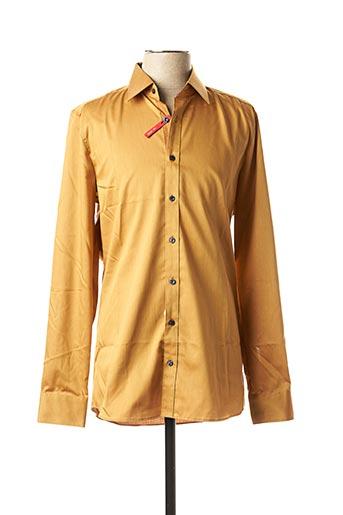 Chemise manches longues marron MARVELIS pour homme