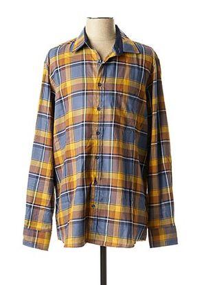 Chemise manches longues jaune MARVELIS pour homme