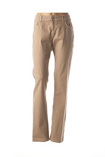 Pantalon casual beige MARINA RINALDI pour femme