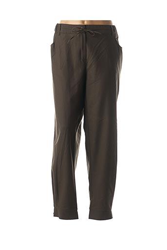 Pantalon casual vert MARINA RINALDI pour femme