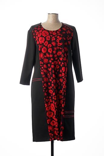 Robe mi-longue rouge GEVANA pour femme