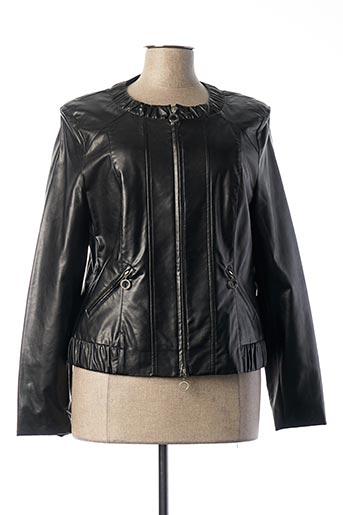 Veste simili cuir noir FRANK WALDER pour femme