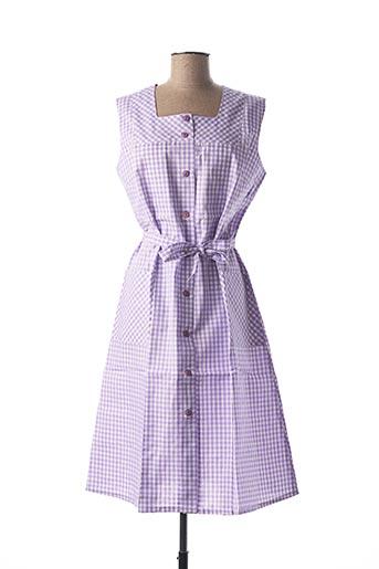 Robe courte violet GUY DUBOUIS pour femme