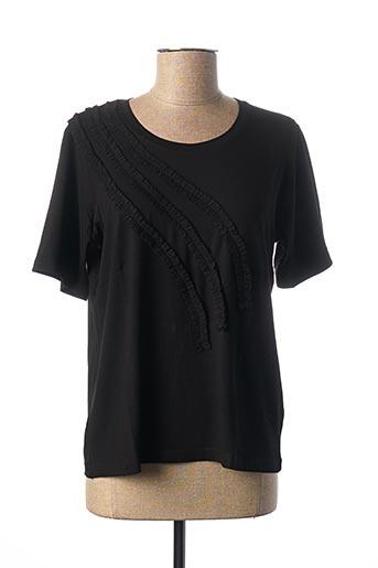 T-shirt manches courtes noir IMPULSION pour femme