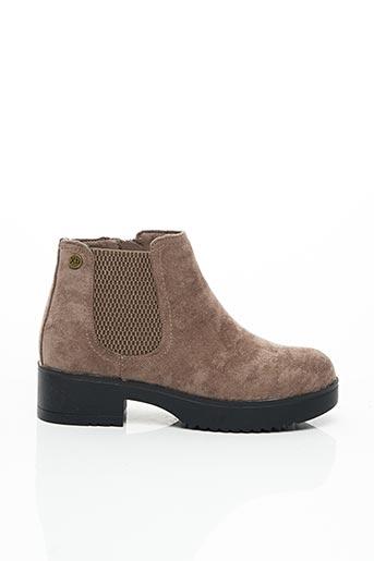 Bottines/Boots beige XTI pour fille