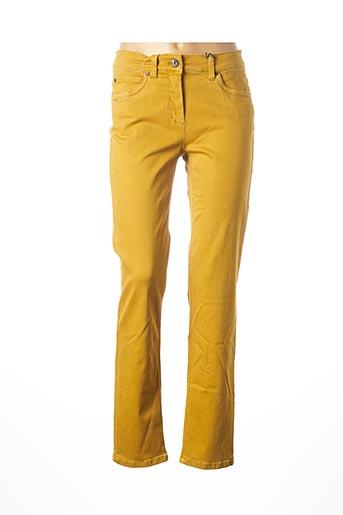 Jeans coupe droite jaune ANNA MONTANA pour femme