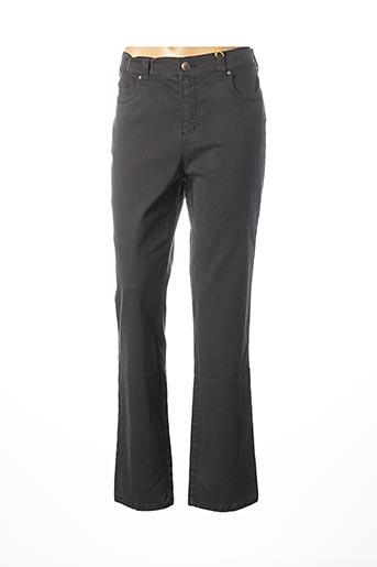 Jeans coupe droite vert ANNA MONTANA pour femme