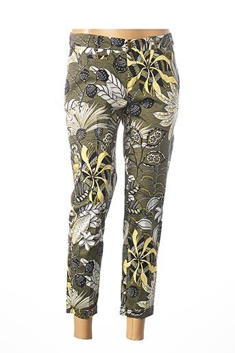 Pantalon 7/8 vert ANNA MONTANA pour femme