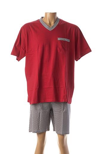 Pyjashort rouge CHRISTIAN CANE pour homme