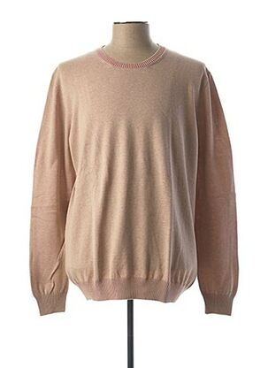Pull col rond beige GRAN SASSO pour homme
