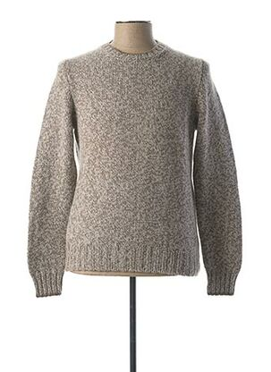 Pull col rond gris GRAN SASSO pour homme