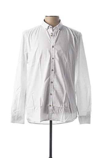 Chemise manches longues blanc JUPITER pour homme