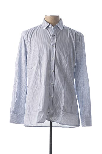 Chemise manches longues bleu JUPITER pour homme
