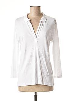 T-shirt manches longues blanc 1 2 3 pour femme