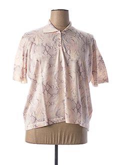 Polo manches courtes rose GRIFFON pour femme