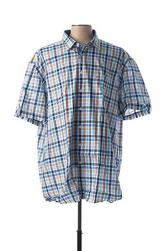 Chemise manches courtes bleu JUPITER pour homme