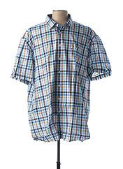 Chemise manches courtes bleu JUPITER pour homme seconde vue