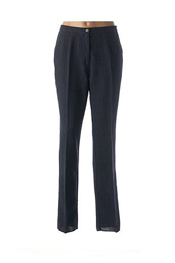 Pantalon chic bleu GEVANA pour femme