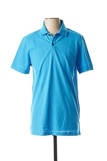 Polo manches courtes bleu IMPETUS pour homme