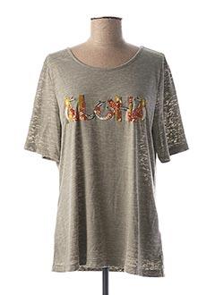 T-shirt manches courtes vert CONCEPT K pour femme