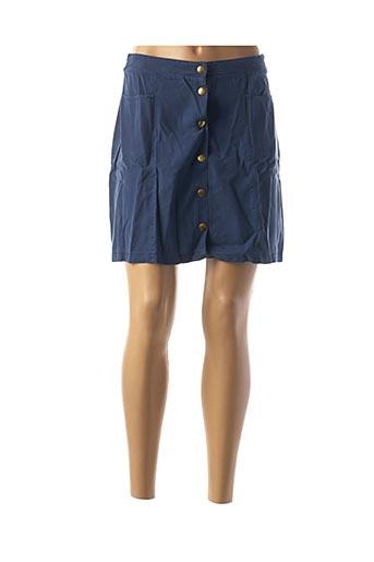 Jupe courte bleu COTTON BROTHERS pour femme