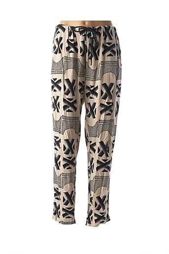 Pantalon casual beige BSB pour femme